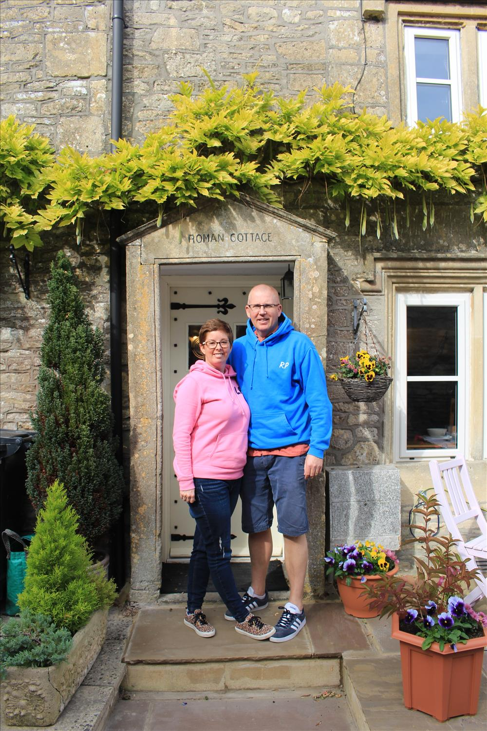 Photo of Richard and Lisa the owners of Roman Cottage